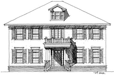 5-Bedroom, 3325 Sq Ft Traditional House Plan - 116-1039 - Front Exterior