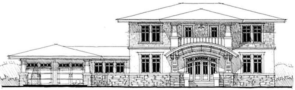 Front elevation of Ranch home (ThePlanCollection: House Plan #116-1041)