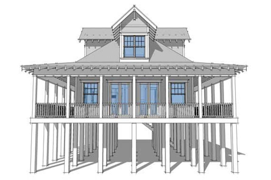 Home Plan Front Elevation of this 2-Bedroom,1527 Sq Ft Plan -116-1043