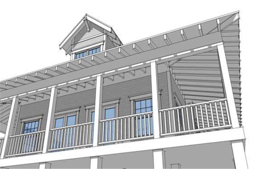 Home Plan Rendering of this 2-Bedroom,1527 Sq Ft Plan -116-1043