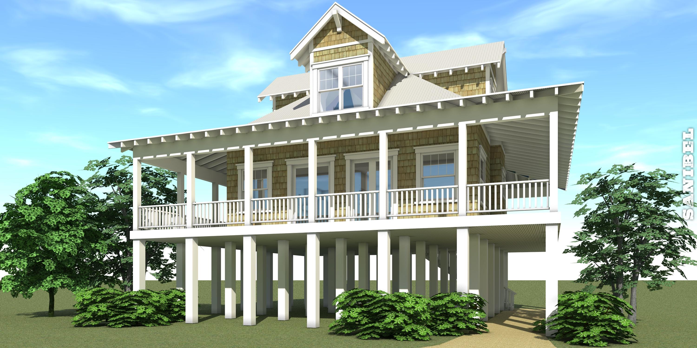 2 Bedroom 1527 Sq Ft Coastal Plan with