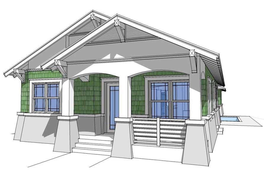 3-Bedroom, 1474 Sq Ft Bungalow House Plan - 116-1051 - Front Exterior