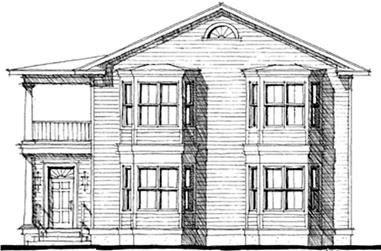 6-Bedroom, 3694 Sq Ft Colonial Home Plan - 116-1054 - Main Exterior