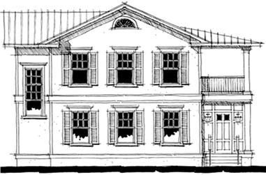 2-Bedroom, 2400 Sq Ft Coastal Home Plan - 116-1055 - Main Exterior