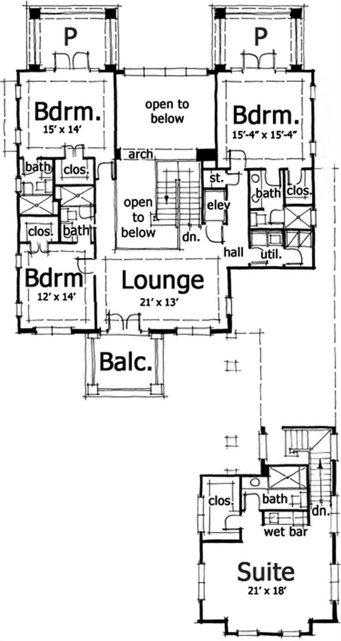 bungalow house plans prairie home plans dt 0025 9958 second floor plan