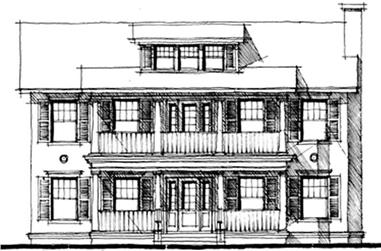 4-Bedroom, 3844 Sq Ft Country Home Plan - 116-1066 - Main Exterior