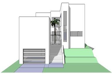 This is a computer rendering of the Limestone Barbados Modern House Plans.