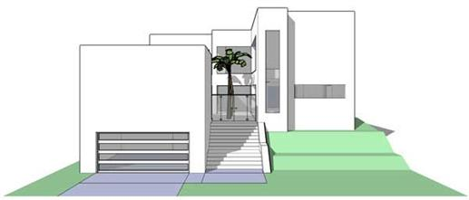 This is a computer rendering of the Barbados Modern House Plans.