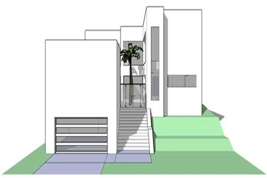 This is a computer rendering of the Limestone Modern House Plans.