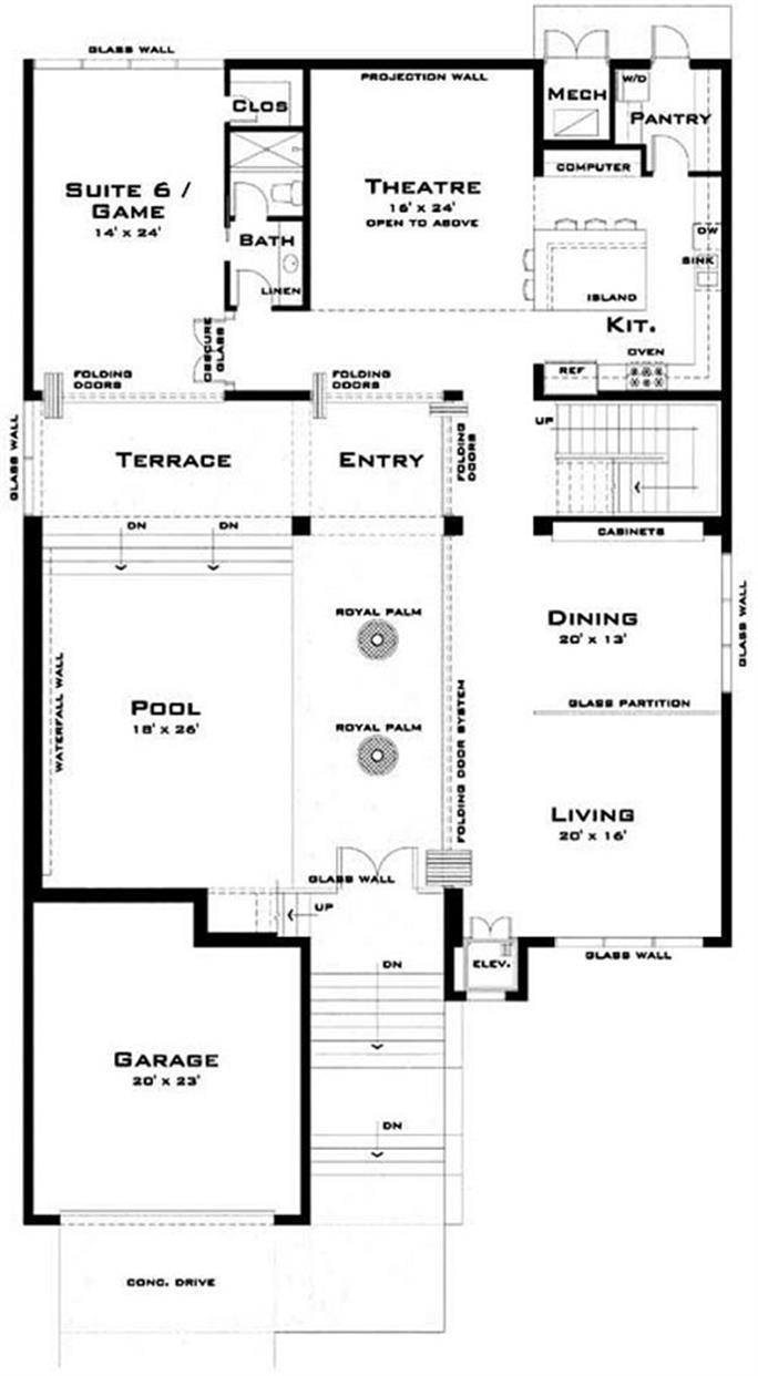 Modern House plans - Home Design 116-1067 - ^