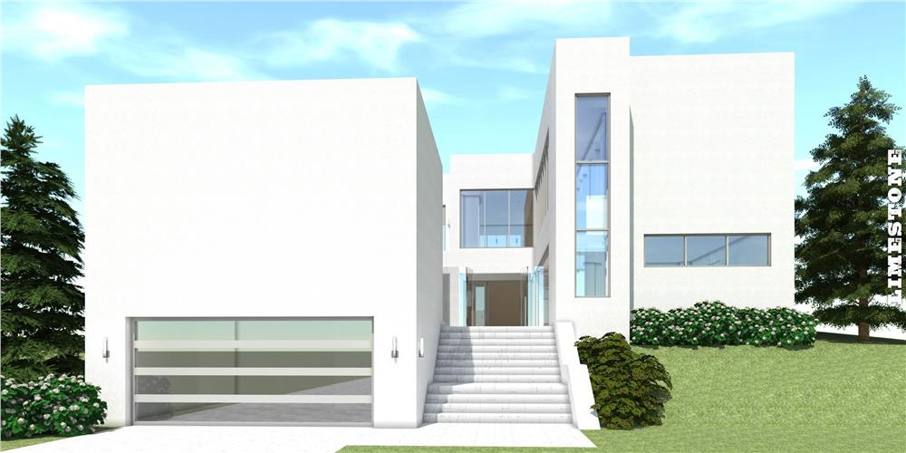This is a computer rendering of the this Modern House Plan.