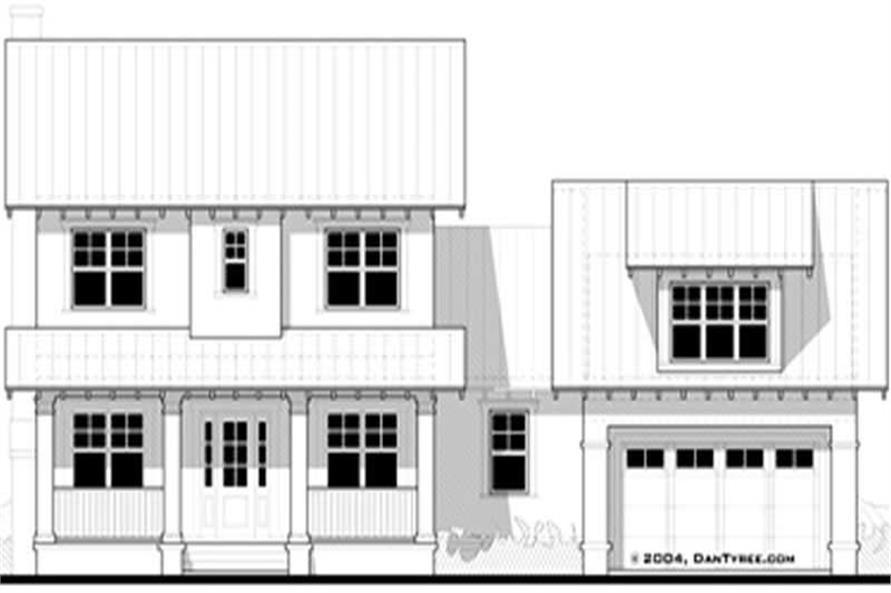Front elevation of Ranch home (ThePlanCollection: House Plan #116-1068)