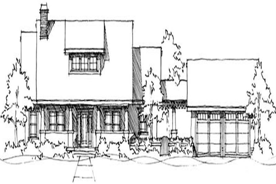 Front elevation of Ranch home (ThePlanCollection: House Plan #116-1069)