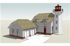 main image for cape code light house plan DT-0061