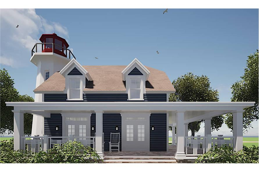 Rear View of this 3-Bedroom,2082 Sq Ft Plan -116-1073
