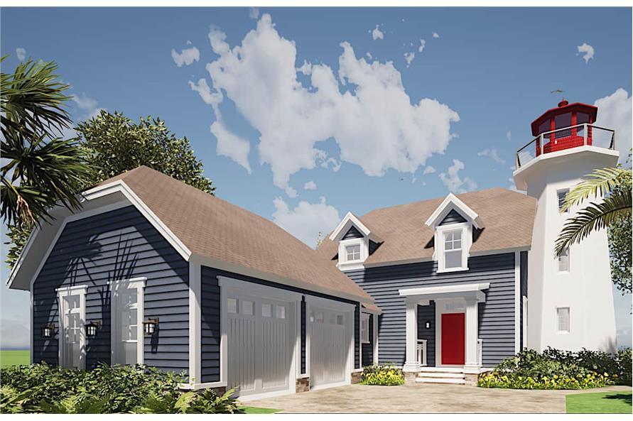 3-Bedroom, 2082 Sq Ft Coastal House - Plan #116-1073 - Front Exterior