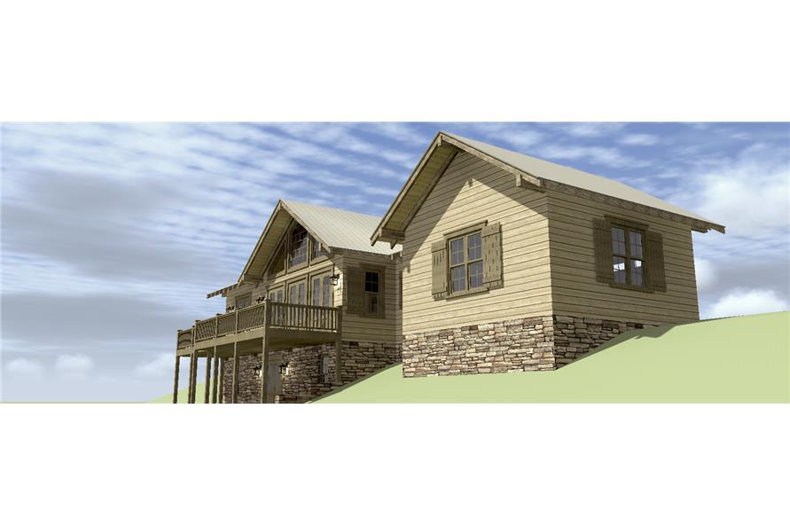 116-1074: Home Plan Rendering-Garage