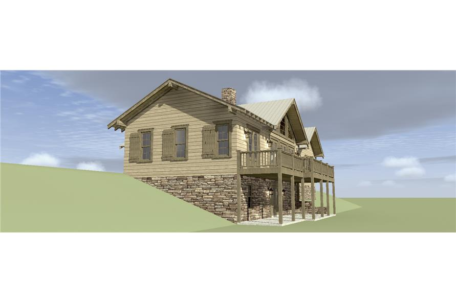 Home Plan Left Elevation of this 3-Bedroom,2200 Sq Ft Plan -116-1074