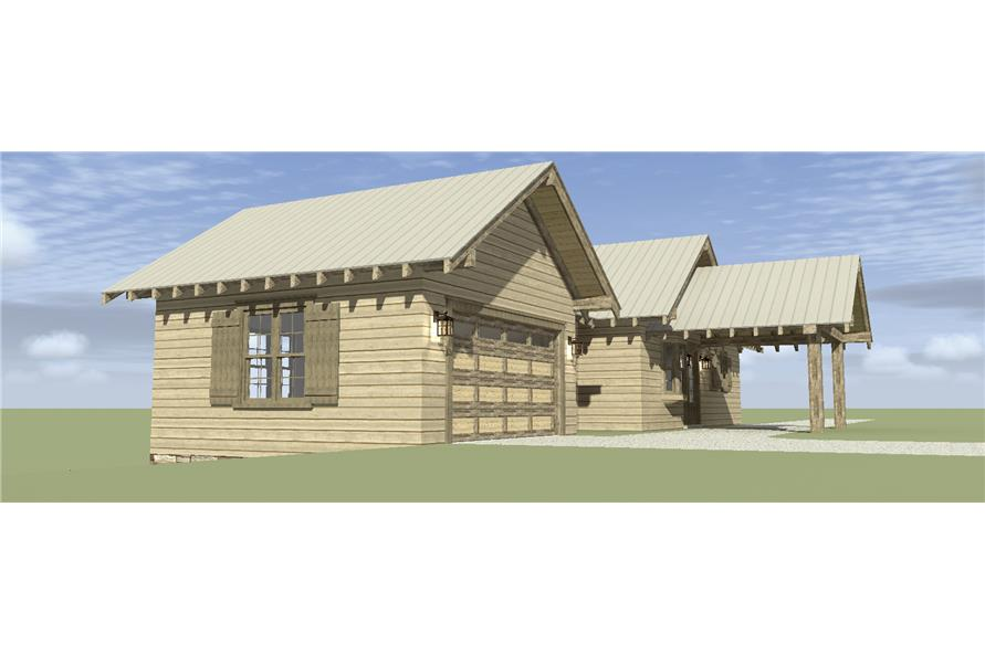 116-1074: Home Plan Right Elevation