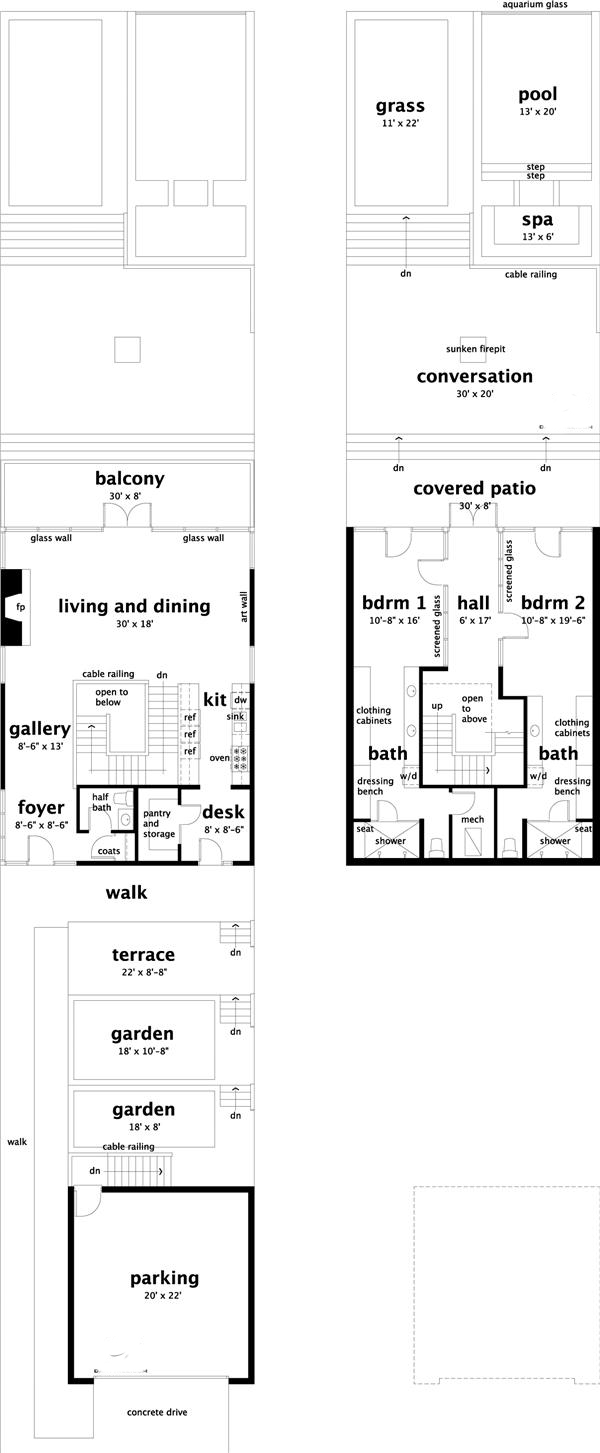 Contemporary modern vacation homes house plans home for 1077 marinaside crescent floor plan