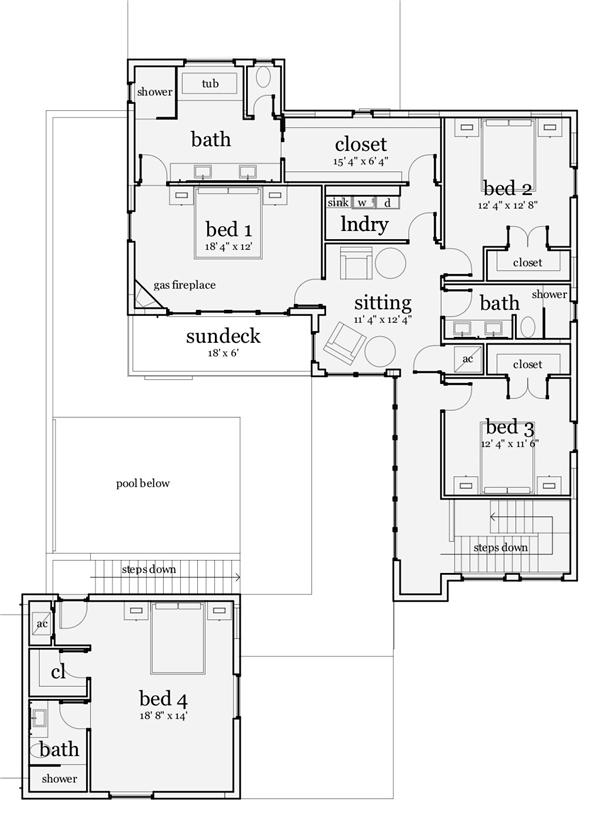116-1078 house plan second story
