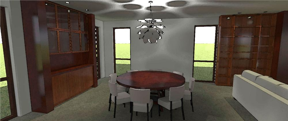 116-1078 house plan dining area