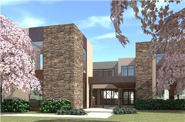 4-Bedroom, 3100 Sq Ft Modern Home Plan - 116-1078 - Main Exterior