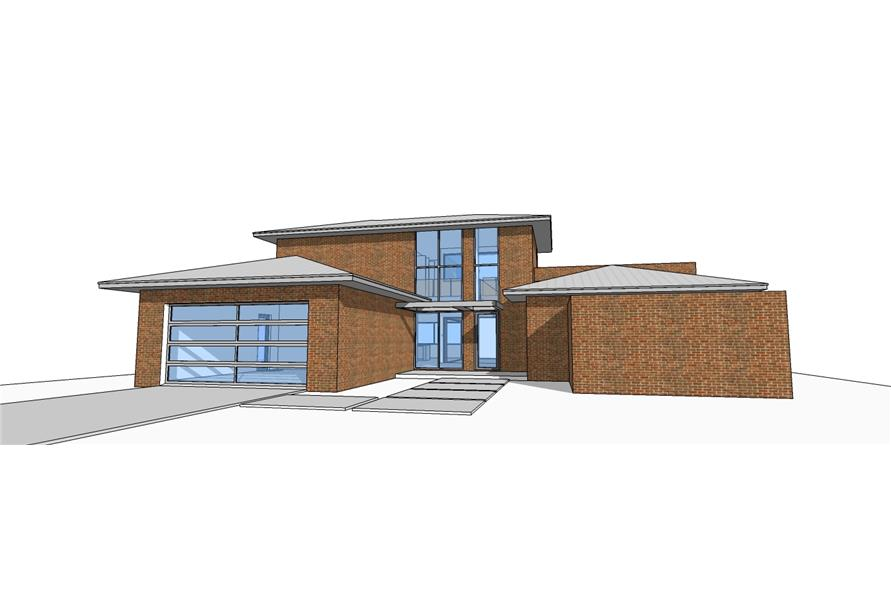 3-Bedroom, 2459 Sq Ft Modern House Plan - 116-1079 - Front Exterior