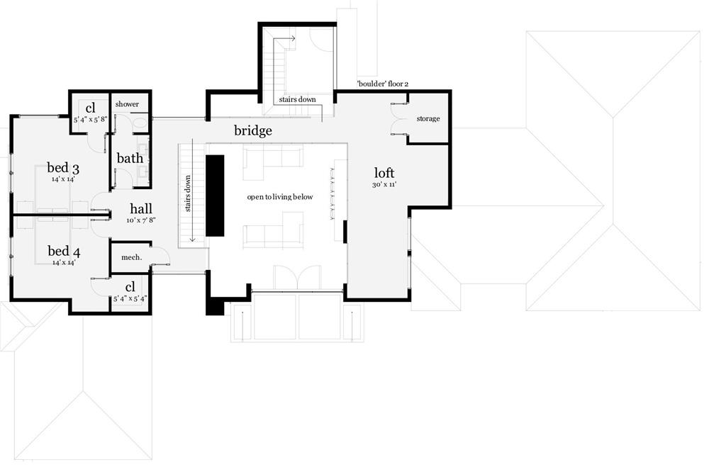 116-1080 house plan second floor