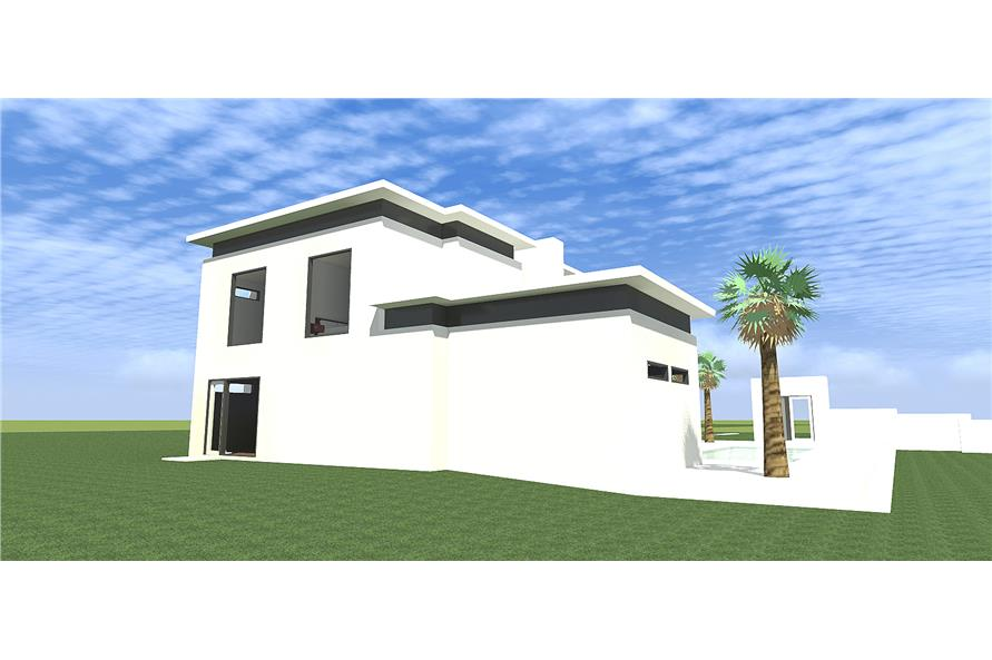 Home Plan Right Elevation of this 4-Bedroom,3885 Sq Ft Plan -116-1080