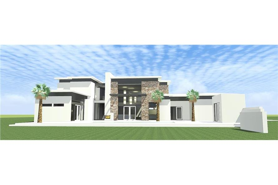 Home Plan Rendering of this 4-Bedroom,3885 Sq Ft Plan -3885