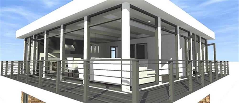 116-1082: Home Plan Rendering-Balcony