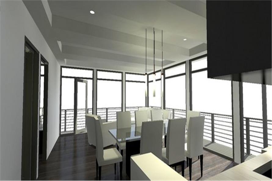 116-1082: Home Plan Rendering-Living Room