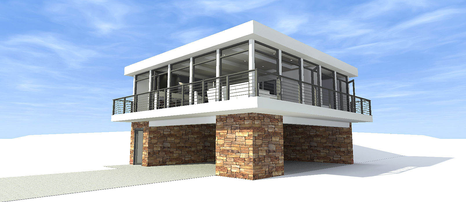 Concrete block icf design modern house plans home for Concrete icf garage plans