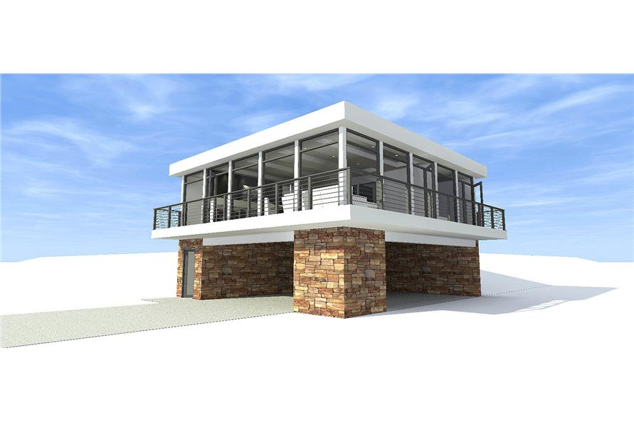 Concrete Block/ ICF Design,Modern,House Plans - Home Design 116-1082