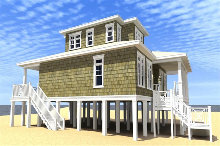 116-1086: Home Plan Left Elevation