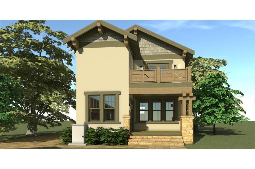 116-1087: Home Plan Rear Elevation