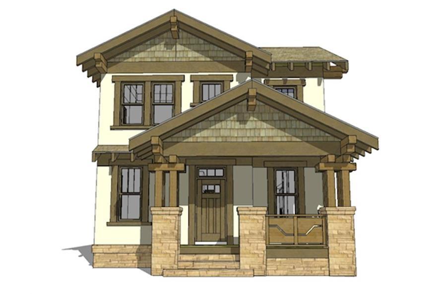 116-1087: Home Plan Rendering