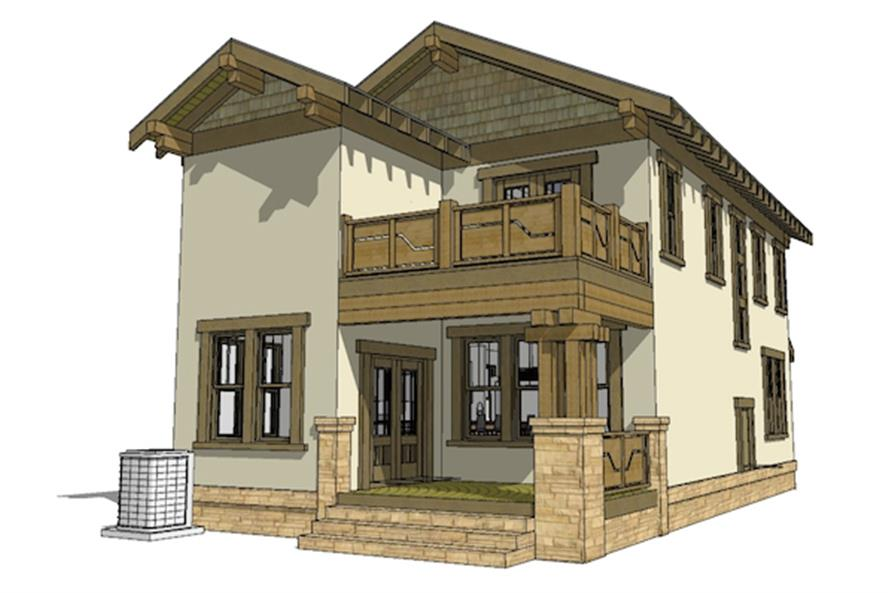 116-1087: Home Plan Rear Elevation