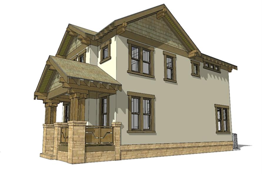116-1087: Home Plan Right Elevation