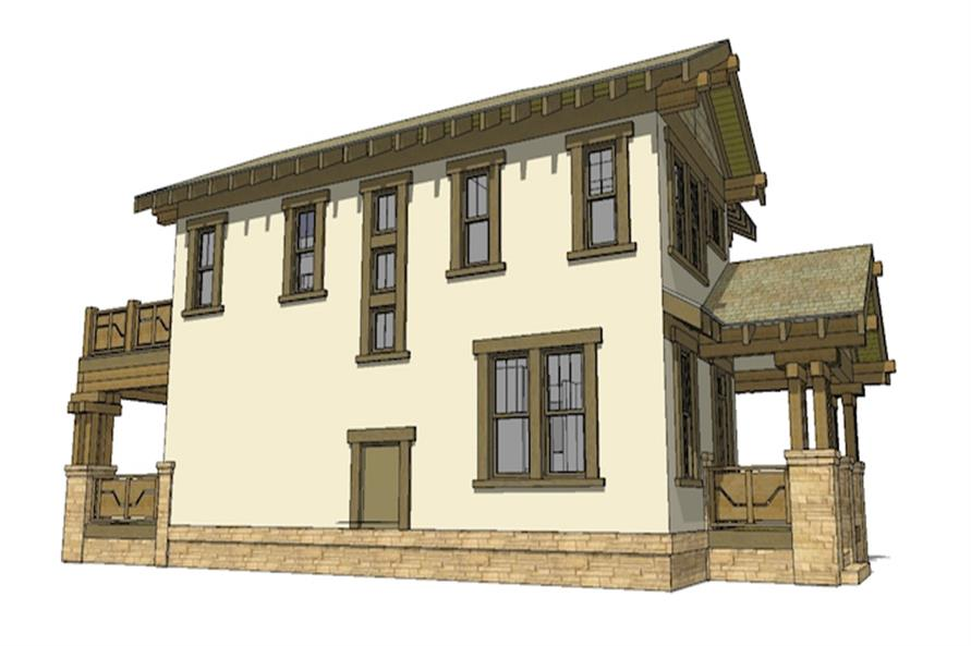 116-1087: Home Plan Left Elevation