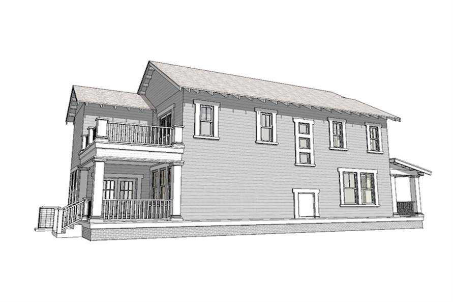 Home Plan Left Elevation of this 3-Bedroom,2080 Sq Ft Plan -116-1088