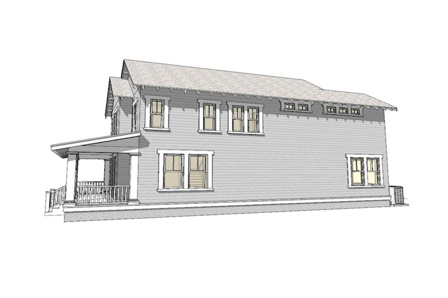 Home Plan Right Elevation of this 3-Bedroom,2080 Sq Ft Plan -116-1088