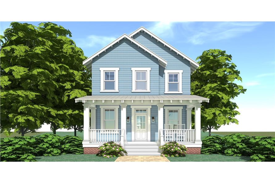Home Plan Rendering of this 3-Bedroom,2080 Sq Ft Plan -2080