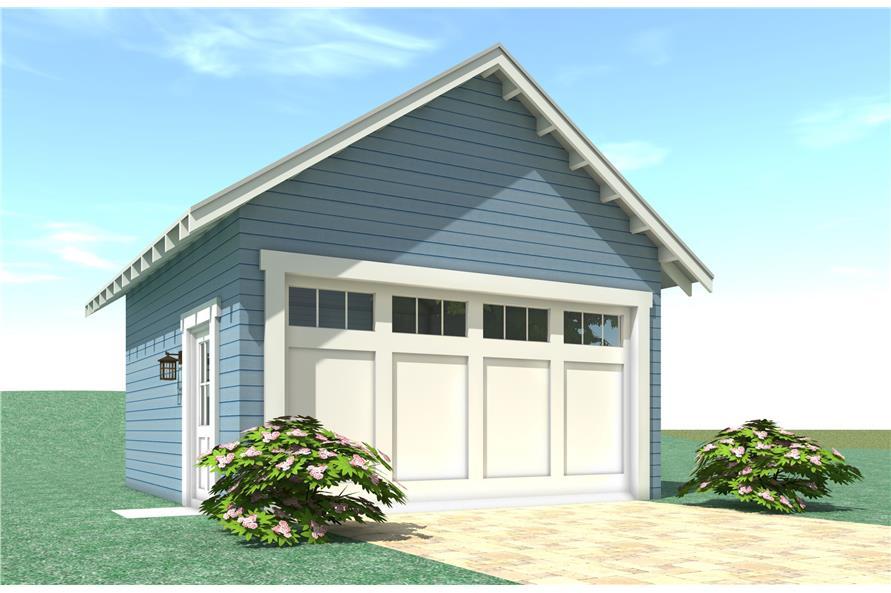 116-1088: Home Plan Rendering-Garage