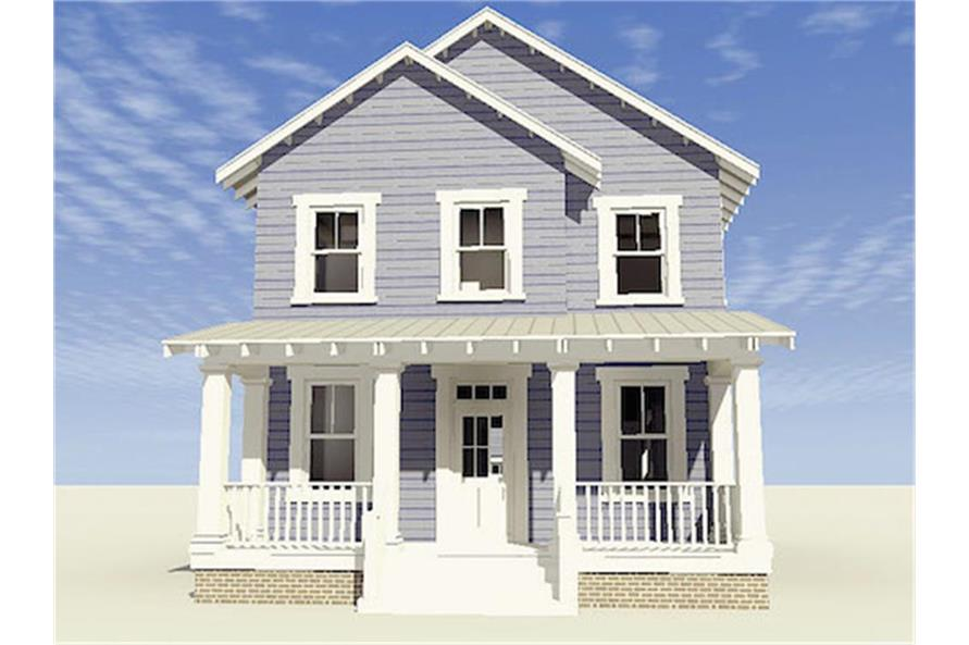 Home Plan Front Elevation of this 3-Bedroom,2080 Sq Ft Plan -116-1088