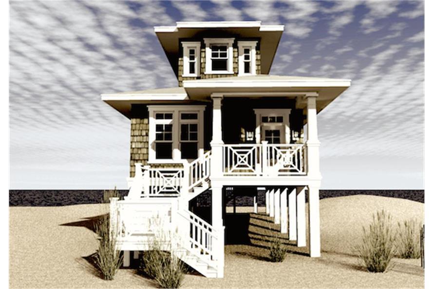 116-1089: Home Plan Rendering-Front Door