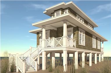 2-Bedroom, 1283 Sq Ft Beachfront House Plan - 116-1089 - Front Exterior