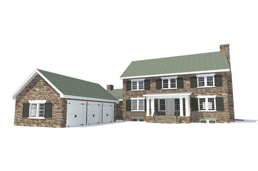 116-1090: Home Plan Front Elevation