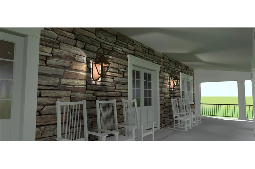 Porch of this 4-Bedroom,3722 Sq Ft Plan -3722